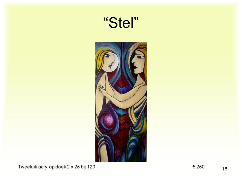 """Acryl op paneel 60 bij 50 € 125 15 """"Portret van Laura"""""""