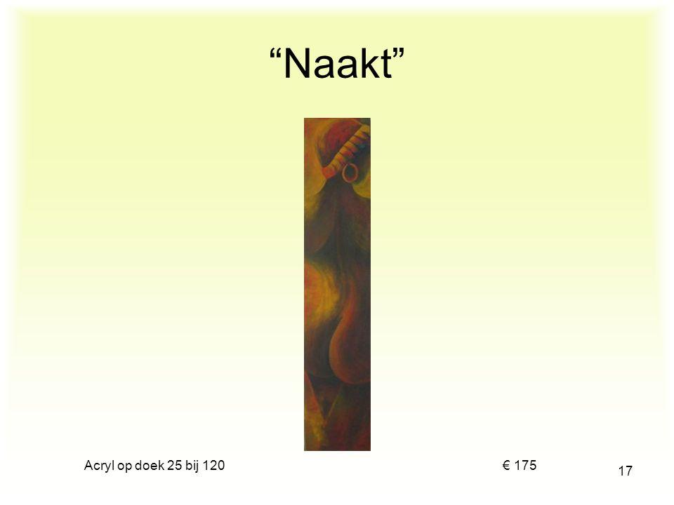 """Tweeluik acryl op doek 2 x 25 bij 120 € 250 16 """"Stel"""""""