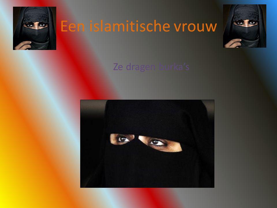 Een islamitische vrouw Ze dragen burka's