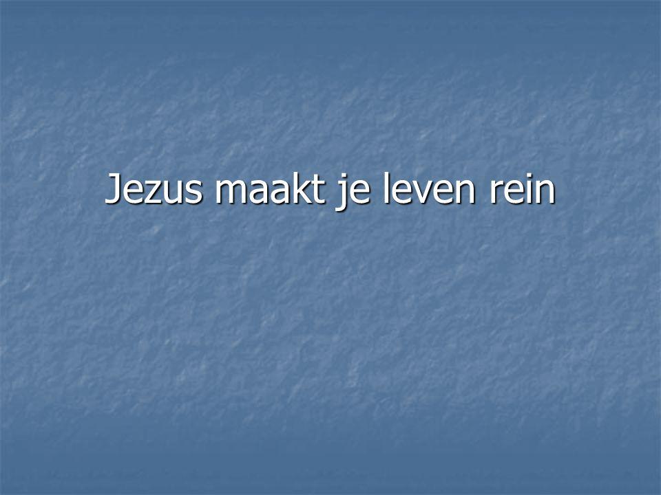 Jezus maakt je leven rein