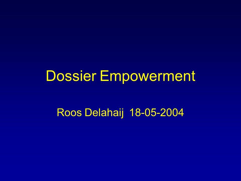Dossier Empowerment Roos Delahaij18-05-2004
