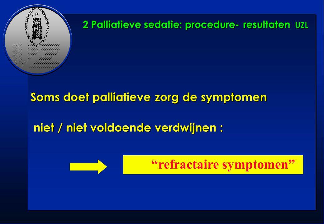 """Soms doet palliatieve zorg de symptomen niet / niet voldoende verdwijnen : niet / niet voldoende verdwijnen : """"refractaire symptomen"""" 2 Palliatieve se"""