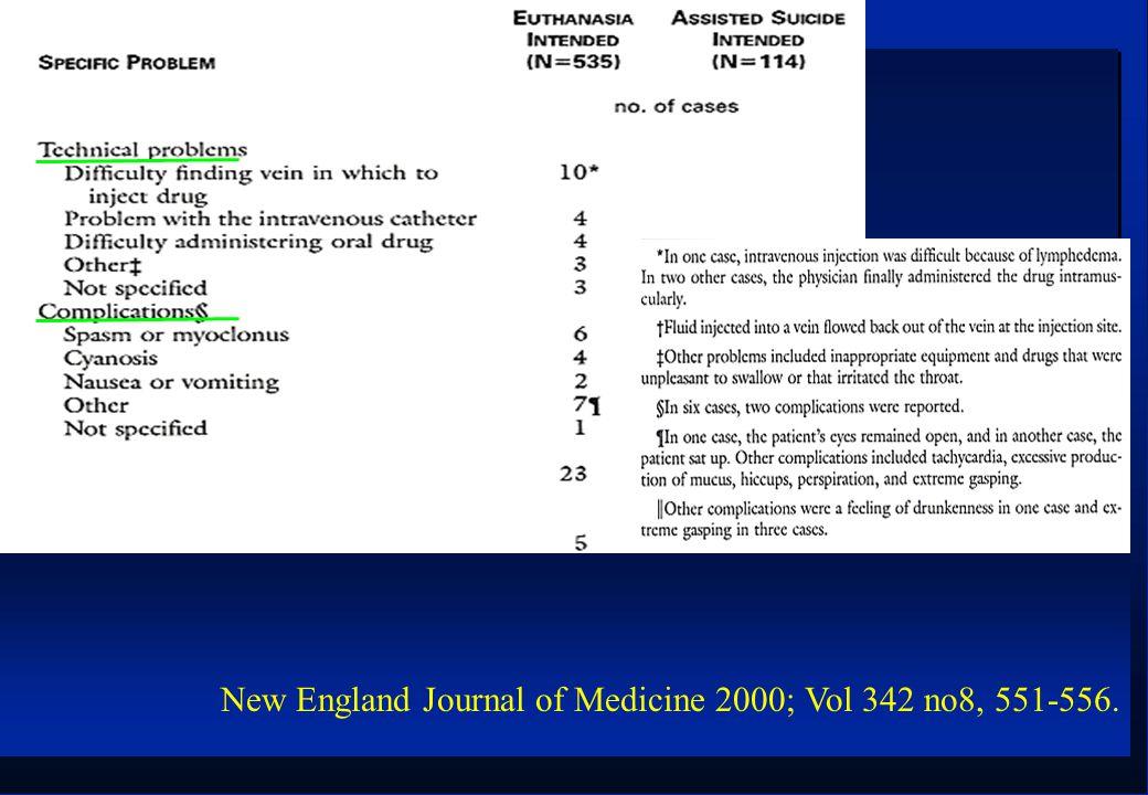 New England Journal of Medicine 2000; Vol 342 no8, 551-556.