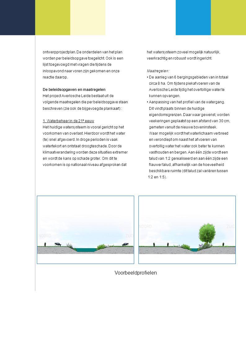 ontwerpprojectplan. De onderdelen van het plan worden per beleidsopgave toegelicht.