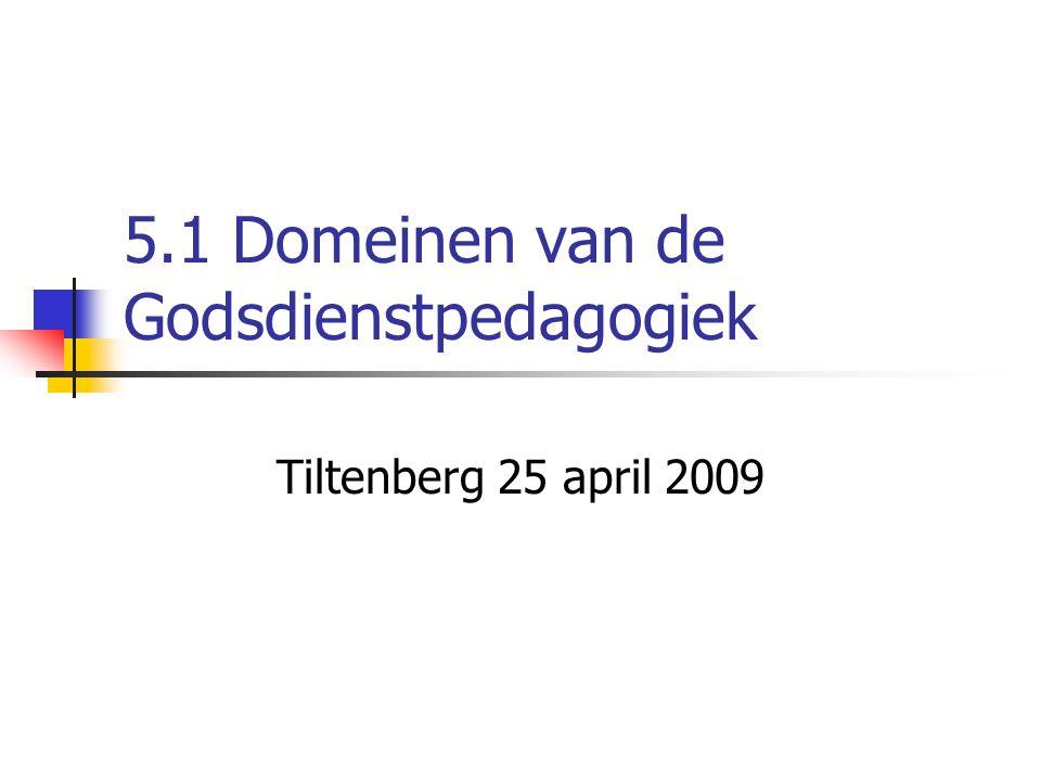 5.1 Domeinen van de Godsdienstpedagogiek Tiltenberg 25 april 2009