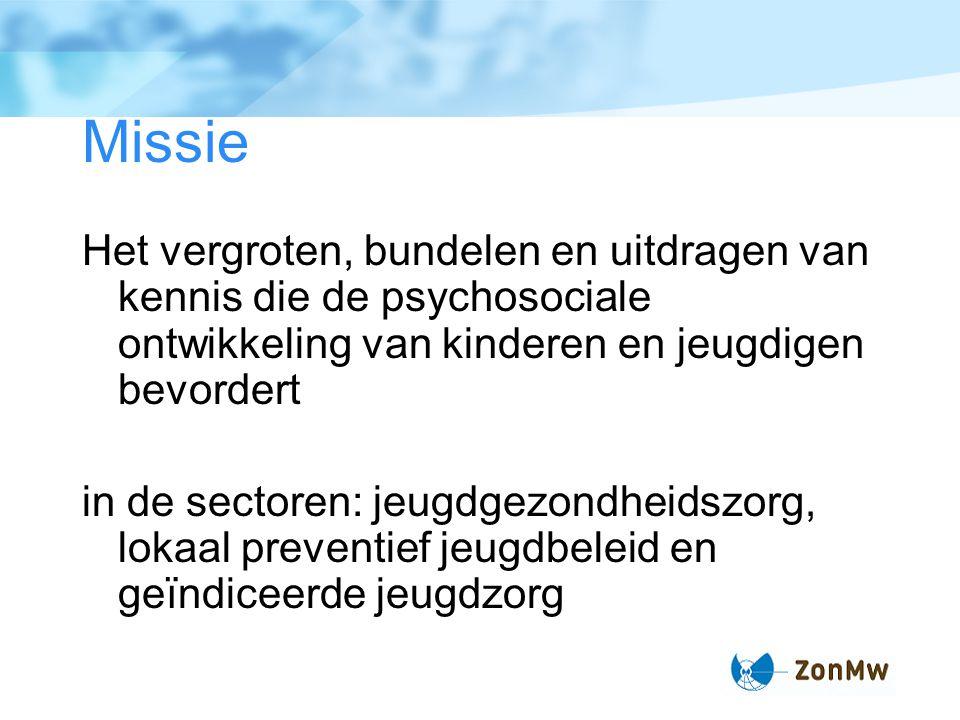 Jeugd bij ZonMw www.zonmw.nl/jeugd