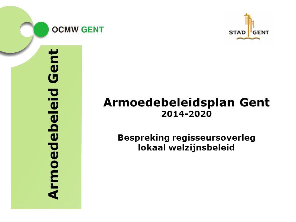 Armoedebeleidsplan Gent 2014-2020 Bespreking regisseursoverleg lokaal welzijnsbeleid Armoedebeleid Gent