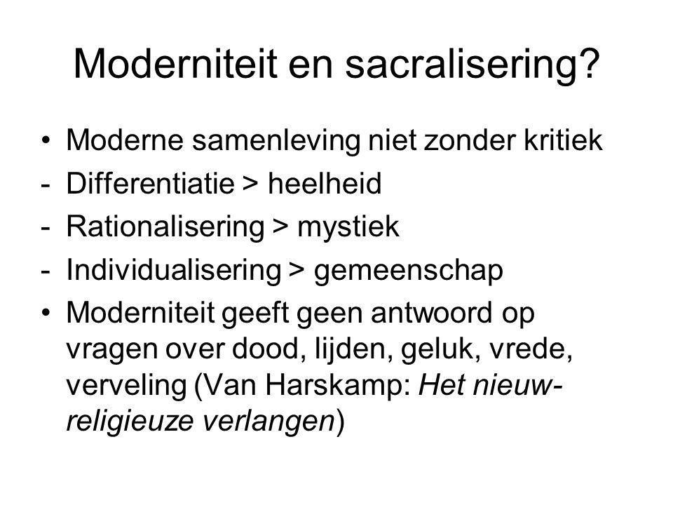 Moderniteit en sacralisering.