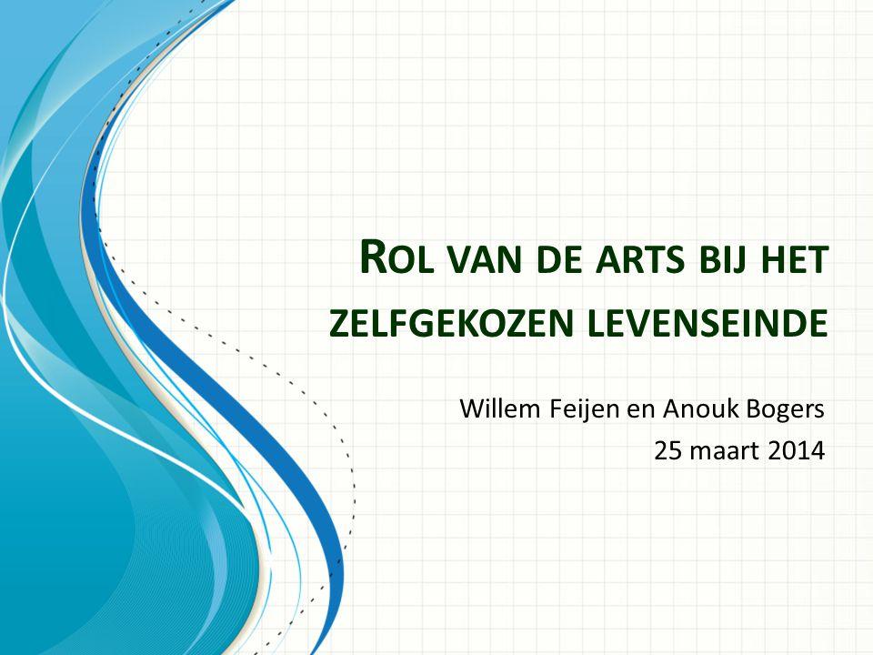 R OL VAN DE ARTS BIJ HET ZELFGEKOZEN LEVENSEINDE Willem Feijen en Anouk Bogers 25 maart 2014