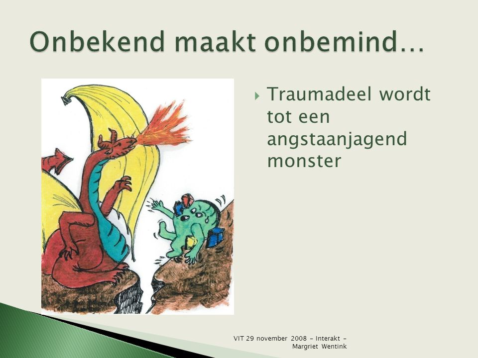  Traumadeel wordt tot een angstaanjagend monster VIT 29 november 2008 - Interakt - Margriet Wentink