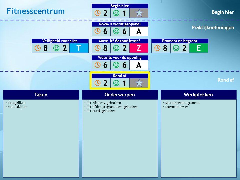 Terugkijken Vooruitkijken ICT Windows gebruiken ICT Office-programma's gebruiken ICT Excel gebruiken Spreadsheetprogramma Internetbrowser TakenOnderwe