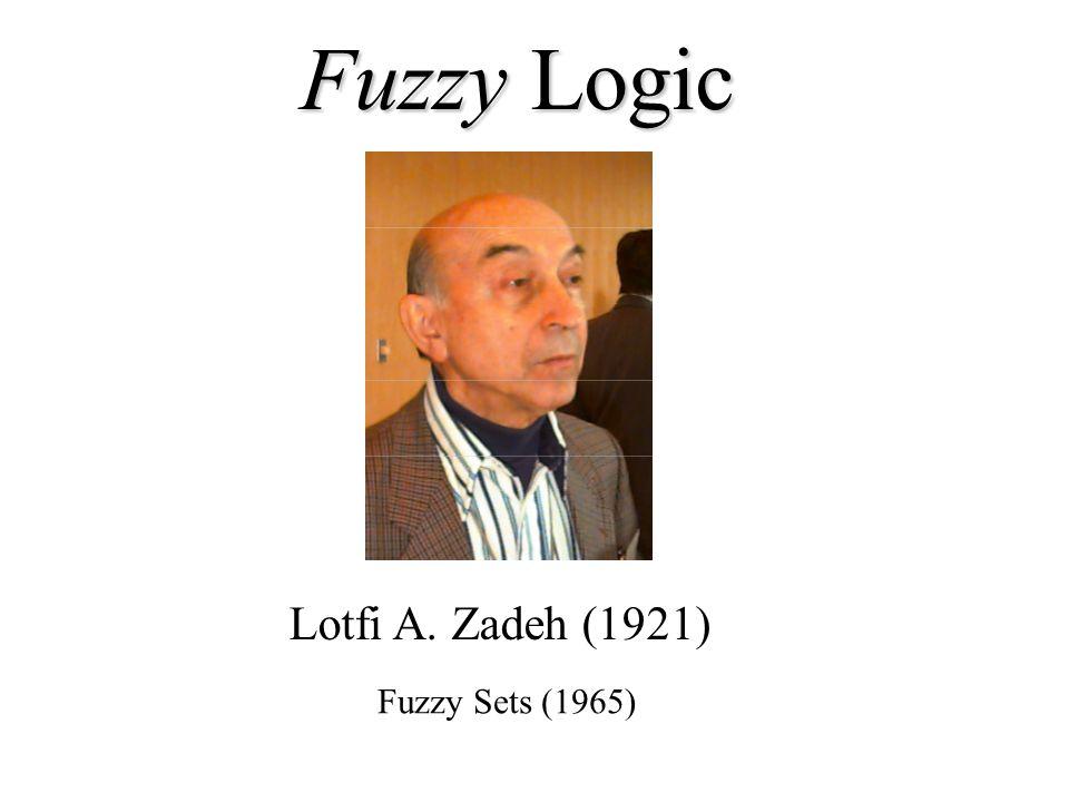 Fuzzy Logic Lotfi A. Zadeh (1921) Fuzzy Sets (1965)