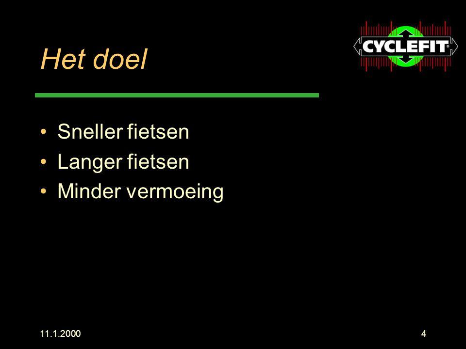 11.1.200025 Berekenen Een uitgedacht programma berekent in een fractie van een seconde de optimale positie, er wordt rekening gehouden met Type fiets Comfort Geslacht Pedaalsysteem