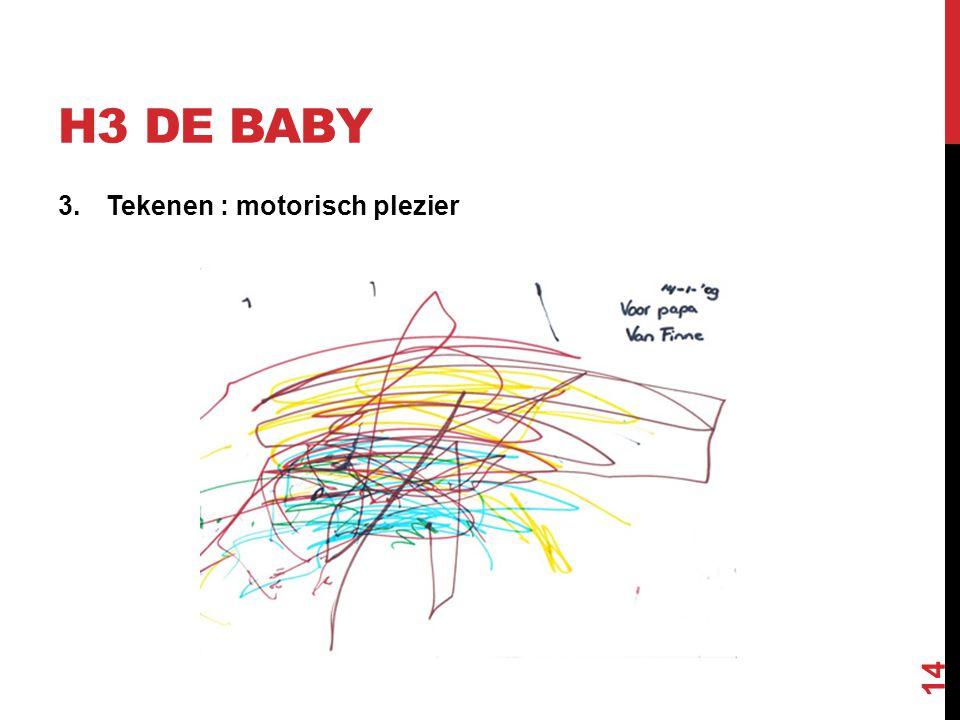H3 DE BABY 3.Tekenen : motorisch plezier 14