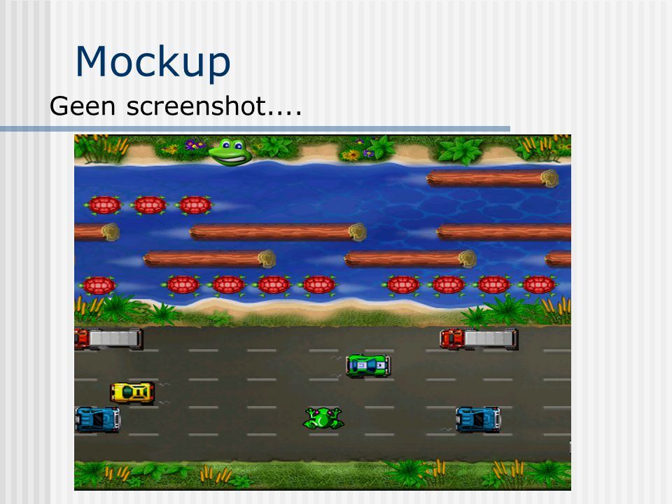 Mockup Geen screenshot....
