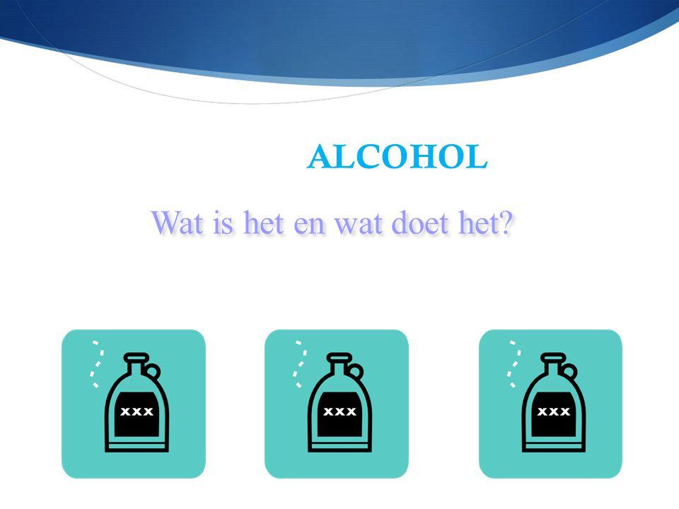 Doel van deze avond  Wat is alcohol. Hoe wordt het afgebroken.