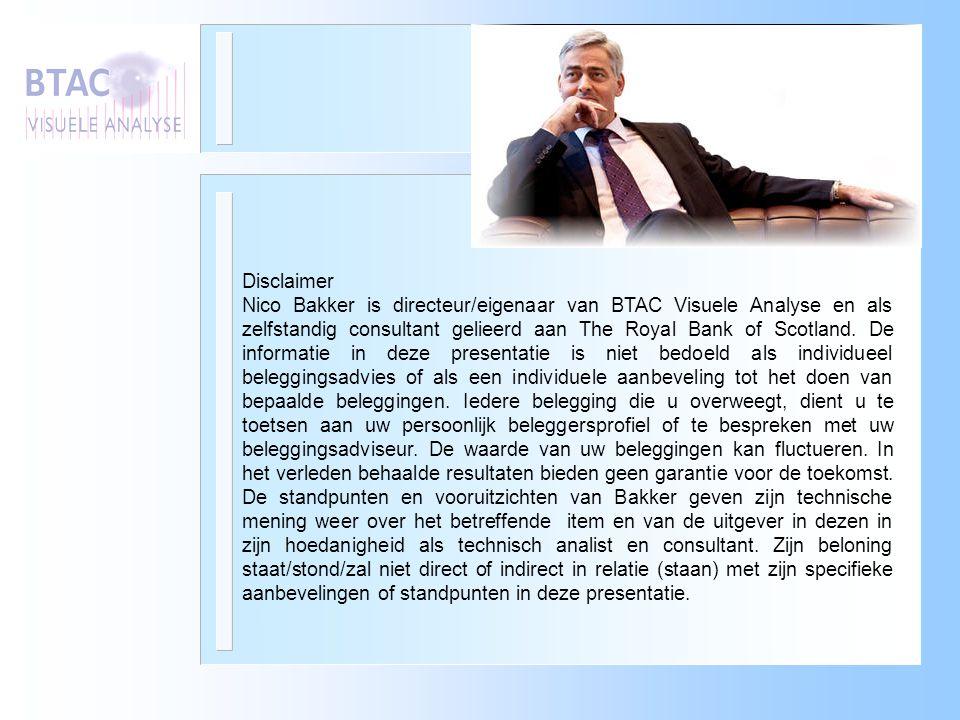 Disclaimer Nico Bakker is directeur/eigenaar van BTAC Visuele Analyse en als zelfstandig consultant gelieerd aan The Royal Bank of Scotland. De inform