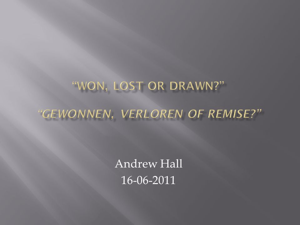 Andrew Hall 16-06-2011
