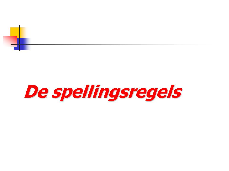 De spellingsregels