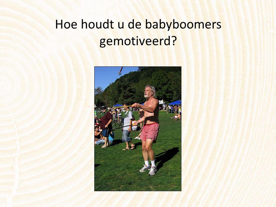 Hoe houdt u de babyboomers gemotiveerd?