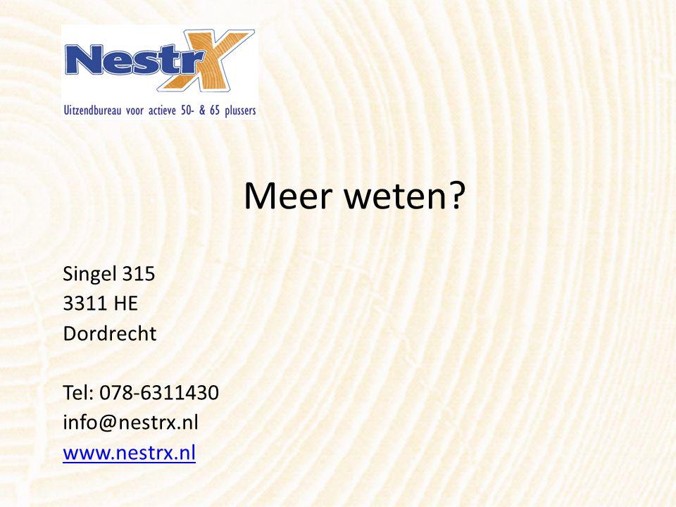 Meer weten? Singel 315 3311 HE Dordrecht Tel: 078-6311430 info@nestrx.nl www.nestrx.nl