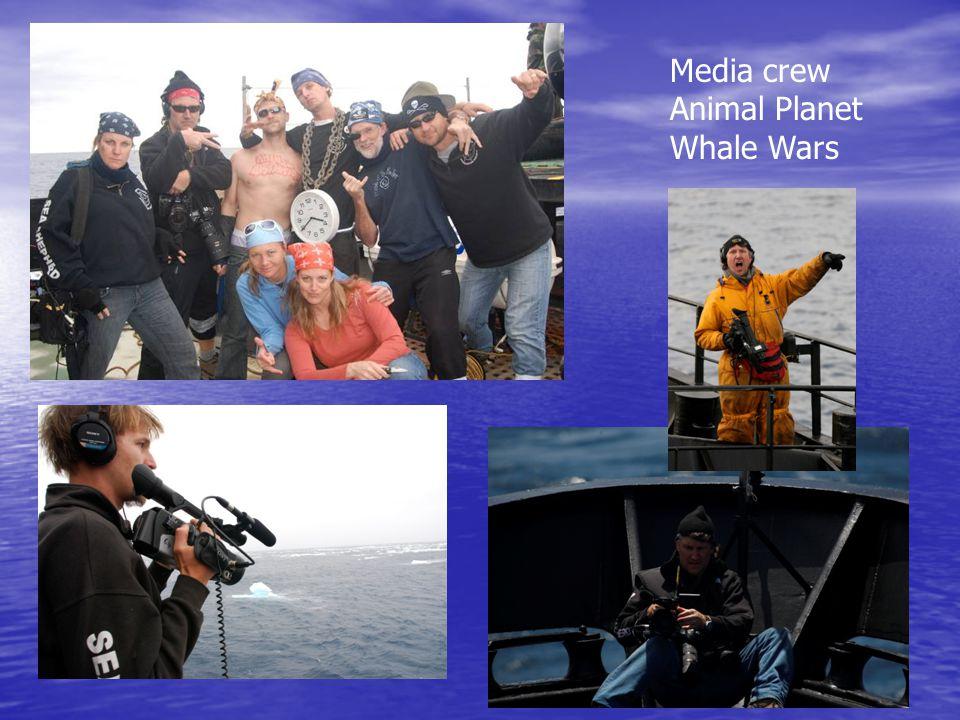 Media crew Animal Planet Whale Wars