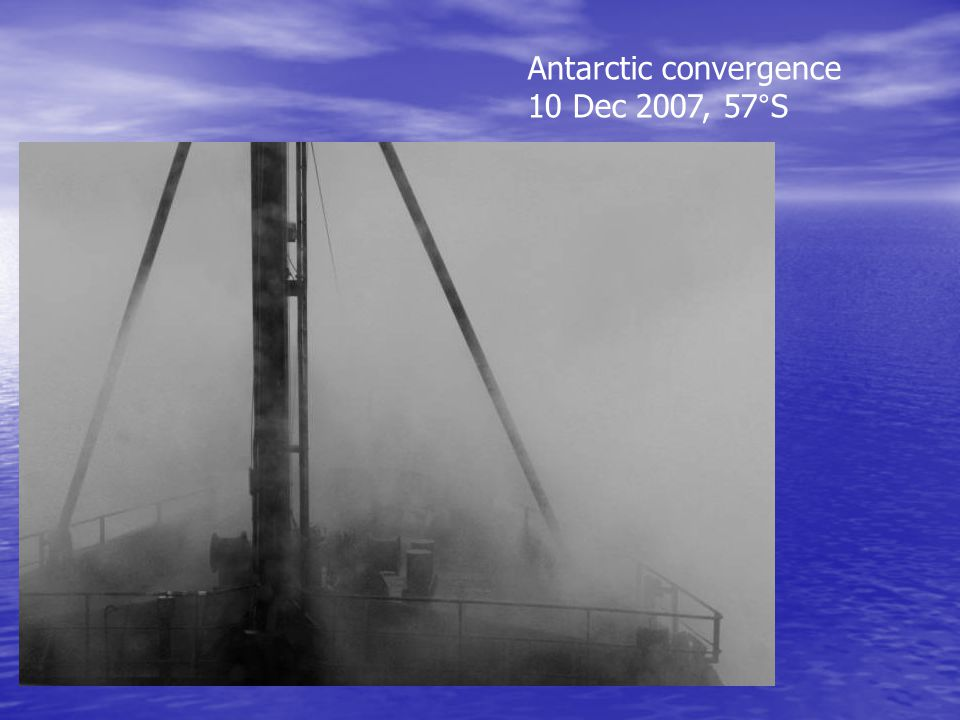 Antarctic convergence 10 Dec 2007, 57°S