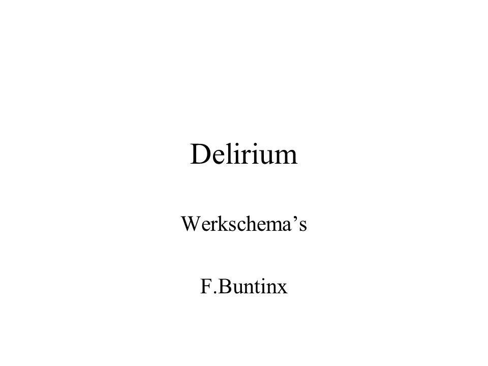 Delirium aanwezig .Criteria Delirium DSM IV A.