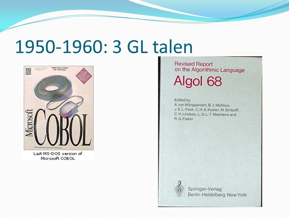 1950-1960: 3 GL talen