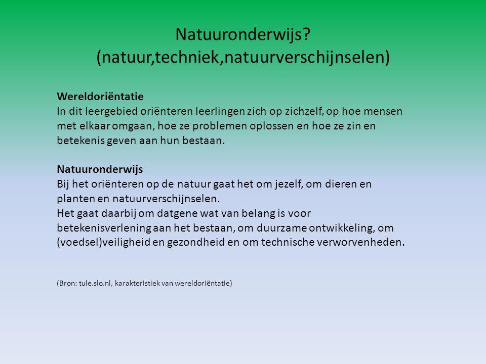 Opdracht 3 Bekijk enkele methoden voor natuuronderwijs.