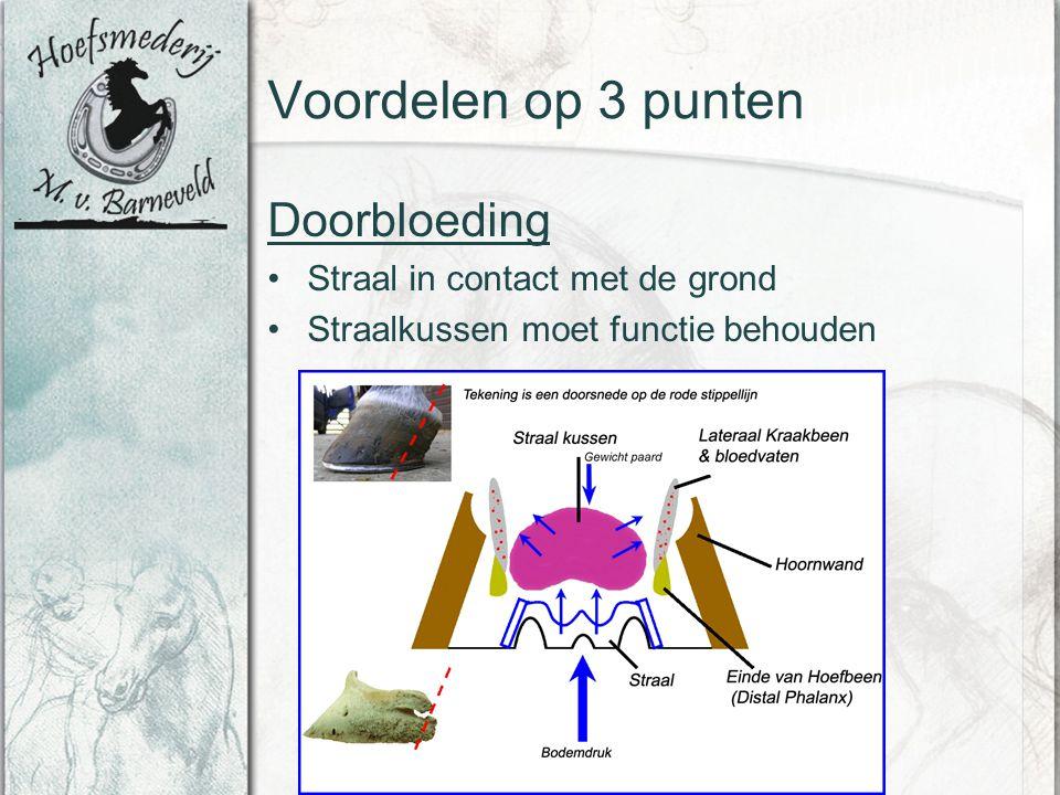Voordelen op 3 punten Doorbloeding Straal in contact met de grond Straalkussen moet functie behouden