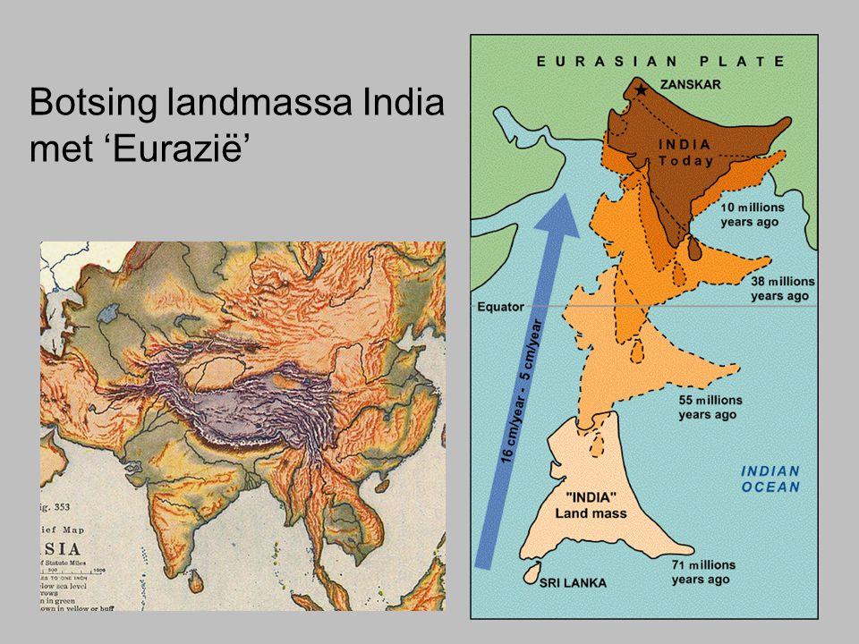 Botsing landmassa India met 'Eurazië'