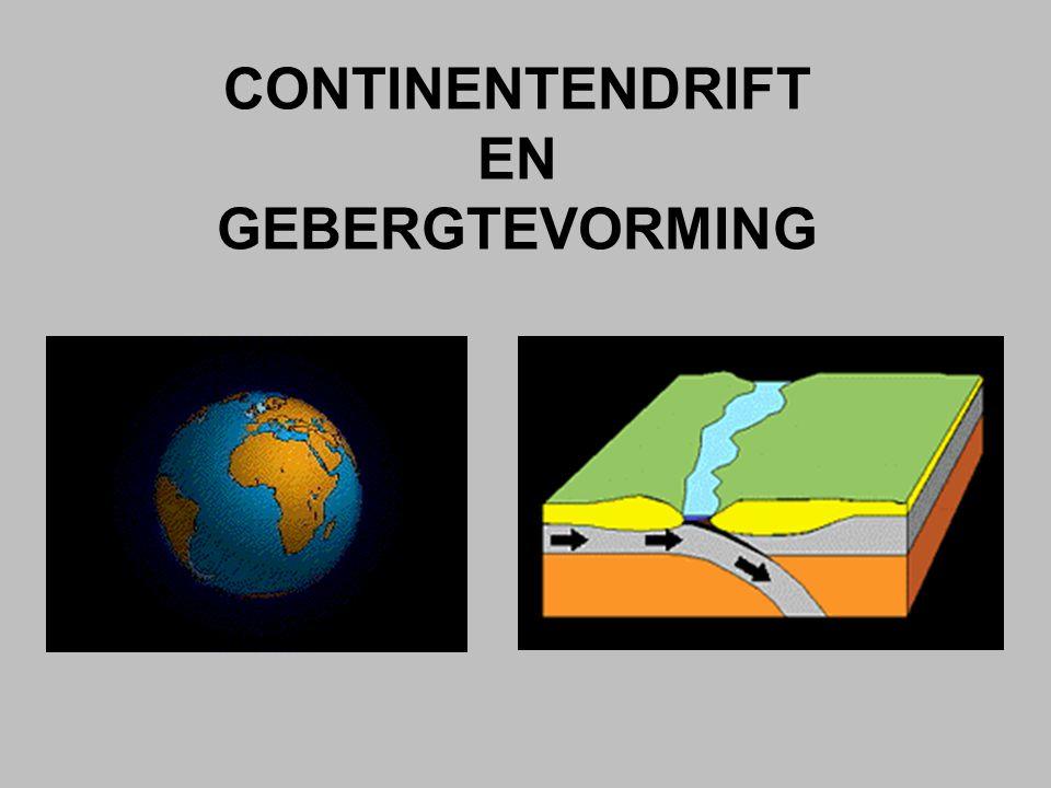 CONTINENTENDRIFT EN GEBERGTEVORMING