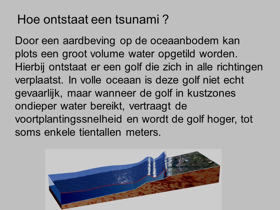 Hoe ontstaat een tsunami .