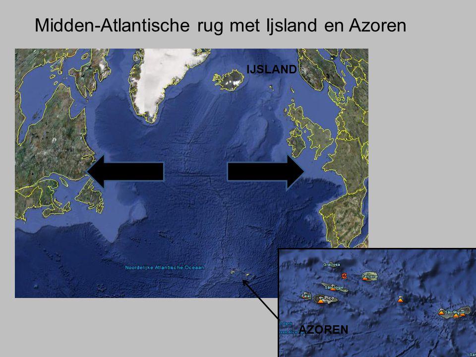 Midden-Atlantische rug met Ijsland en Azoren AZOREN IJSLAND