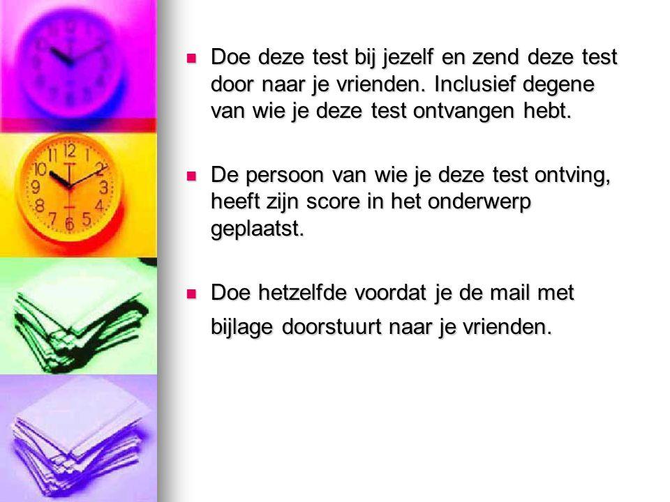 8.Welke van de volgende kleuren vindt je het mooiste.