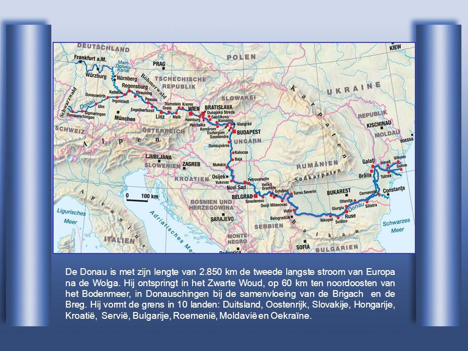 De Donau is met zijn lengte van 2.850 km de tweede langste stroom van Europa na de Wolga.