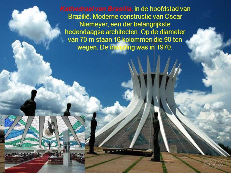 Kathedraal van Brasilia, in de hoofdstad van Brazilië.