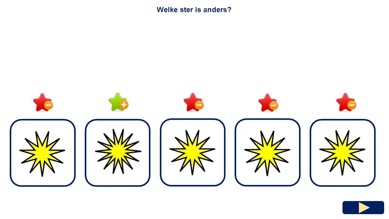 Welke ster is anders?