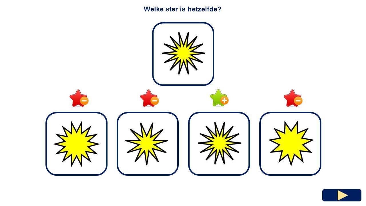 Welke ster is hetzelfde?