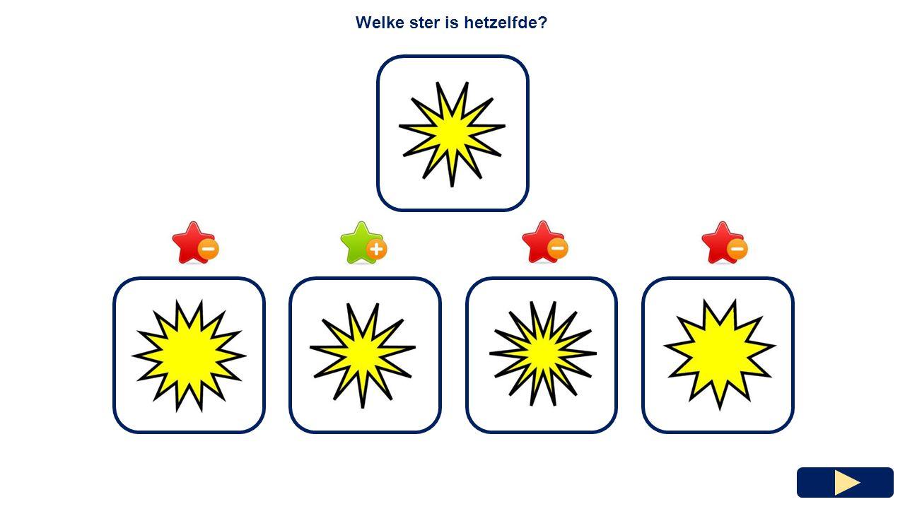 Welke ster heeft de meeste punten?