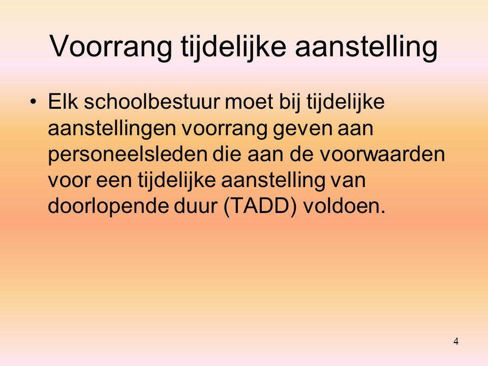 Criteria voor vaste benoeming 35 Voor de instellingen secundair onderwijs die tot de scholengemeenschap Houtland behoren en voor de instellingen basisonderwijs die tot de scholengemeenschap Sperregem behoren eist het schoolbestuur een dienstanciënniteit van tenminste 360 dagen (waarvan 240 effectief gepresteerd) bij het eigen schoolbestuur (decreet, artikel 31, §1, 1°).