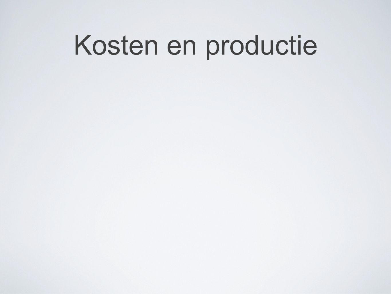 Kosten en productie