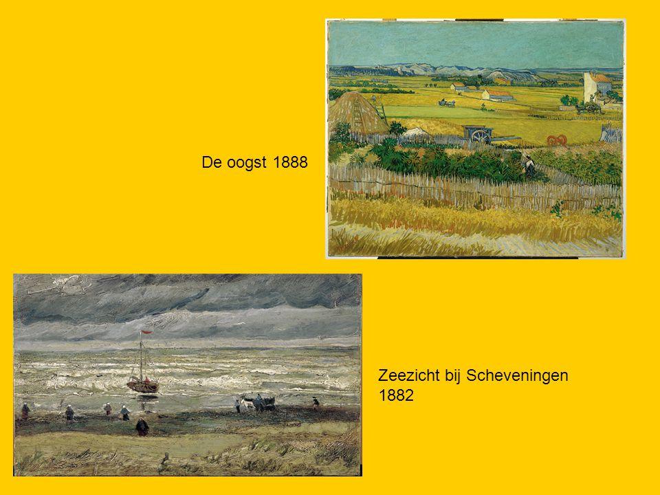 De oogst 1888 Zeezicht bij Scheveningen 1882