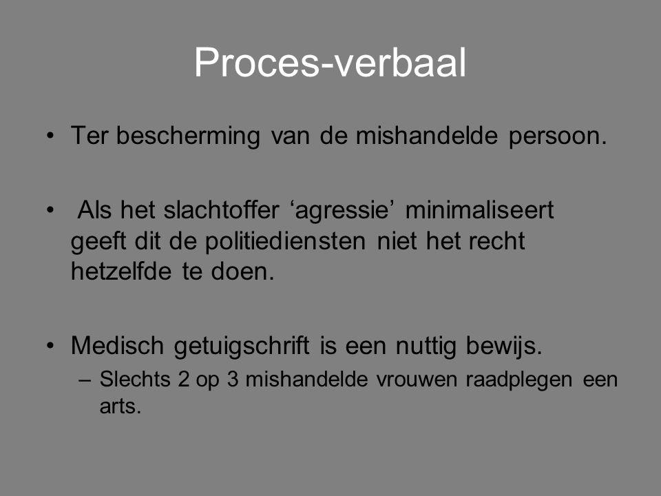 Proces-verbaal Ter bescherming van de mishandelde persoon.