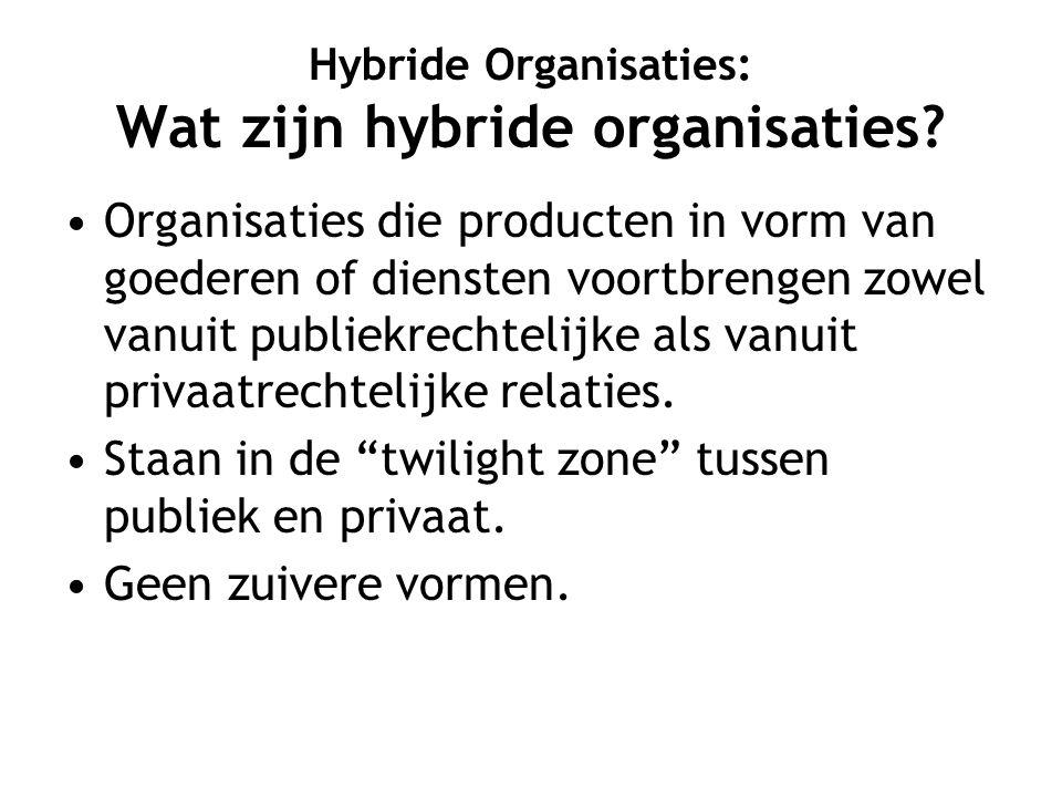 Hybriditeit legitiem indien synergie Synergie betekent dat er door combinatie van activiteiten meerwaarde ontstaat Voorbeeld de operatie in een academisch ziekenhuis: 6 productieve processen tegelijk Essentie is kluwenvorming