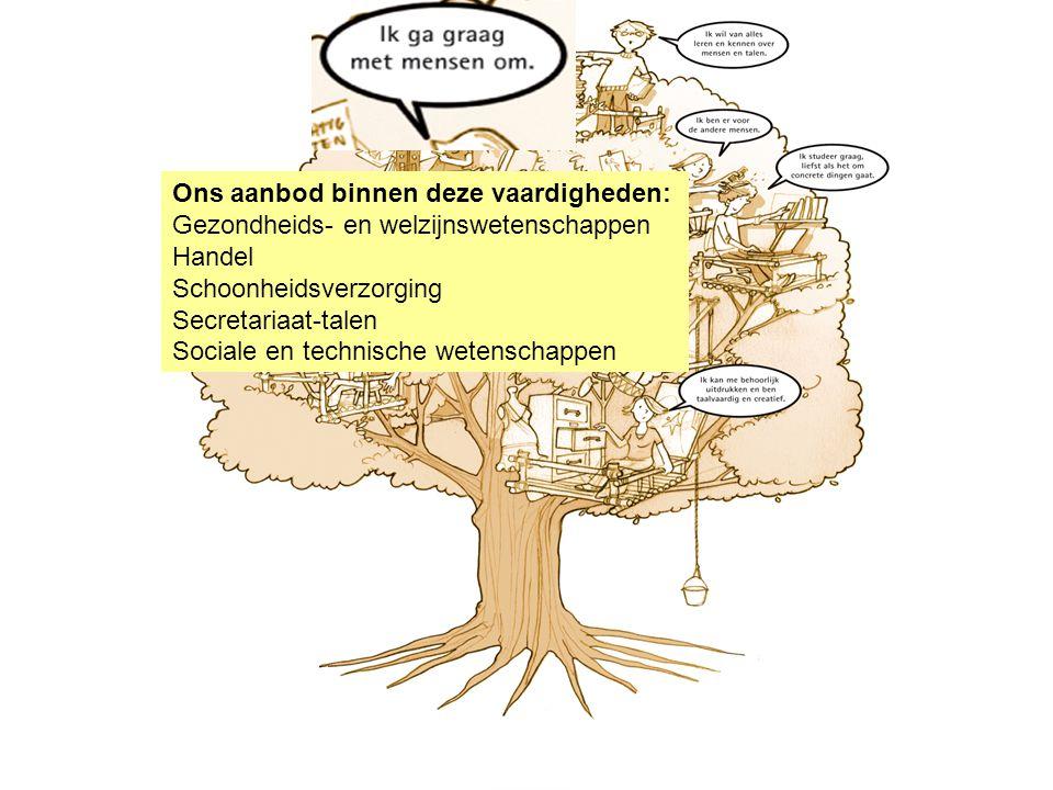 Latijn Soc.- en technische vorming Moderne wetenschappen Industriële- en biotechnische wetenschappen Handel BSO Tuinbouw Creatie en vormgeving Artisti