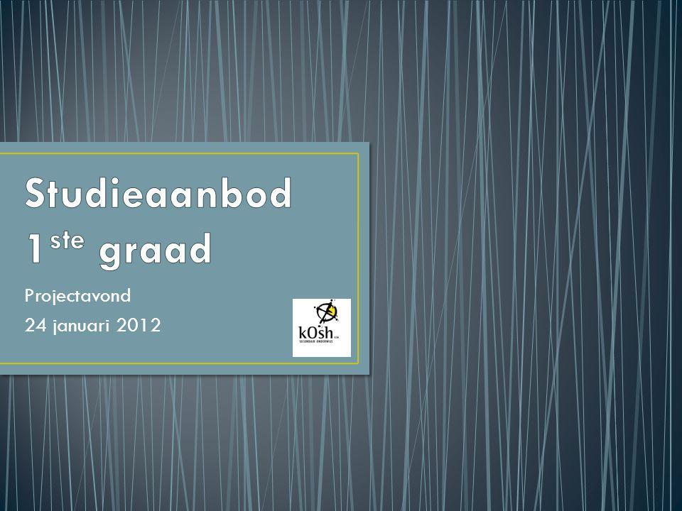 Projectavond 24 januari 2012