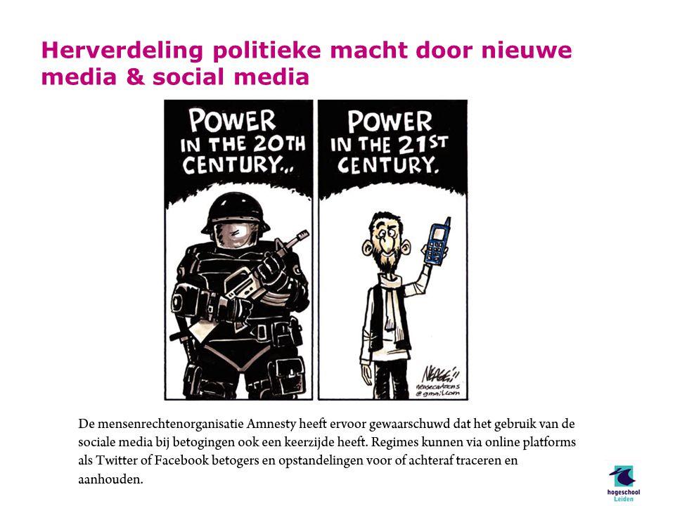 Herverdeling politieke macht door nieuwe media & social media
