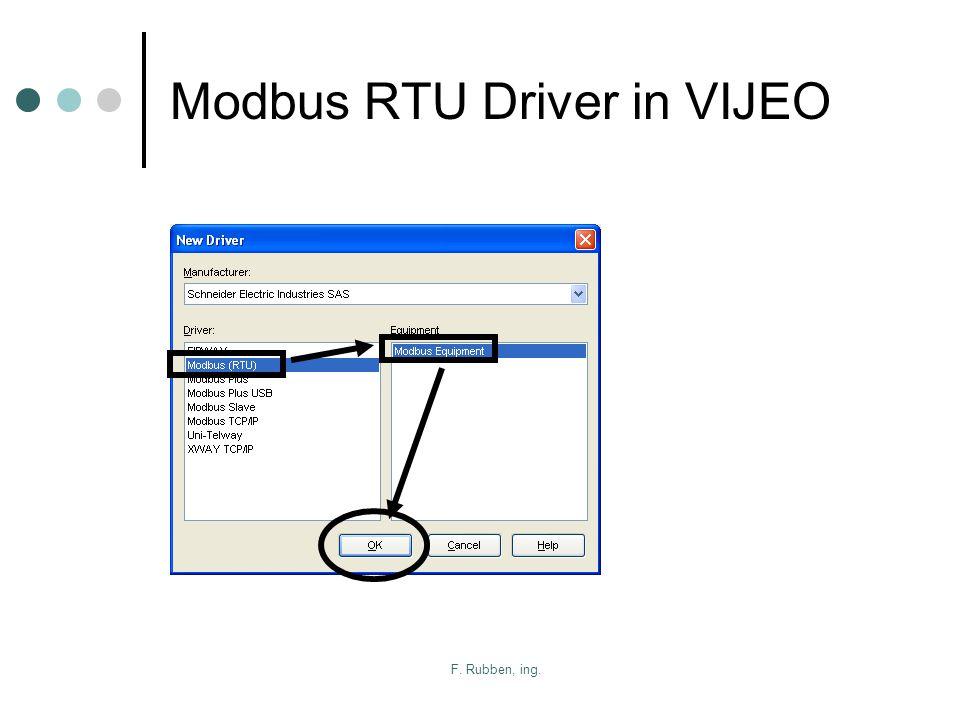 F. Rubben, ing. Modbus RTU Driver in VIJEO